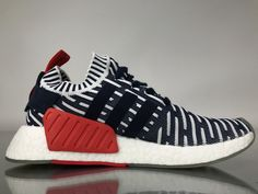 """Adidas NMD R2 Primeknit """"Navy White Red"""" BB2909 Women Ladies Girls Real Boost for Sale4"""
