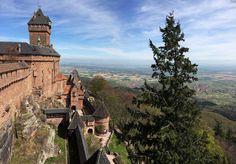 Le #château du #HautKoenigsbourg veille sur la plaine d'#Alsace. #France