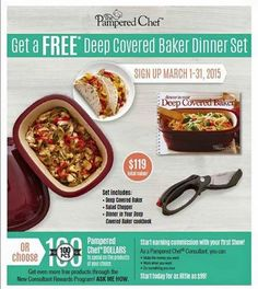 pampered chef 2015 host benefits flyer - Google Search