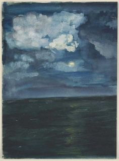 Moonlit Seascape  John La Farge, c. 1883  Transparent and opaque watercolor on paper