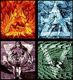 Four Elements Four Colors Four Triangles