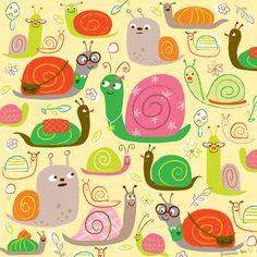 Snail Pattern by @jannie sofine sofine sofine Ho #illustration #surface #design
