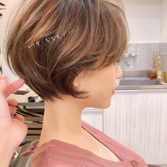 Copper Layered Bob with Bangs - 50 Classy Short Bob Haircuts and Hairstyles with Bangs - The Trending Hairstyle Blunt Bob Hairstyles, Short Bob Haircuts, Hairstyles With Bangs, Pretty Hairstyles, Medium Hair Styles, Curly Hair Styles, Stacked Haircuts, Bobs For Thin Hair, Hair Dos