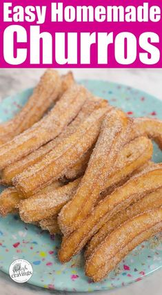 Learn how to make churros with this easy churros recipe. Scroll down for the easy churros recipe that's perfect for Cinco de Mayo celebrations! Fun Easy Recipes, Easy Desserts, Easy Meals, Disney Desserts, Homemade Desserts, Quick And Easy Snacks, Easy Homemade Snacks, Disney Recipes, Healthy Recipes