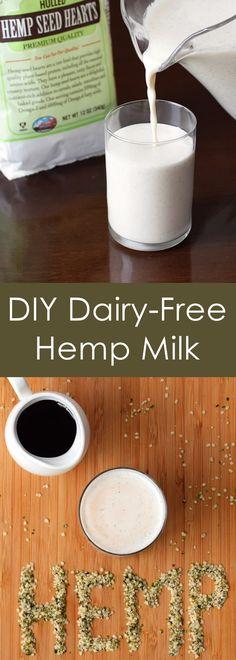 DIY Dairy-Free Hemp Milk - healthy, homemade, easy, vegan & allergy-friendly recipe!