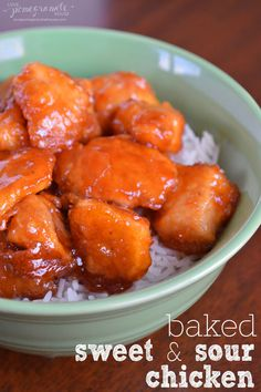 Baked Sweet & Sour Chicken #glutenfree #chinese || Love, Pomegranate House