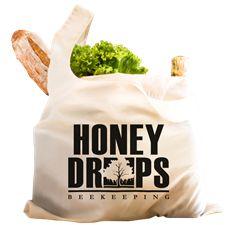 Reusable Shopping Bag Honey Drops, Reusable Shopping Bags, Beekeeping, Accounting