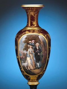 ~ Royal Vienna Porcelain Vase ~ 1stdibs.com