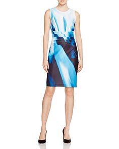 Calvin Klein Abstract Print Dress