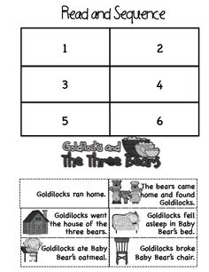 The Three Bears Sequence Printables | 375 x 487 png 62kB, Mix a Fairy Tale: choose setting, good character ...