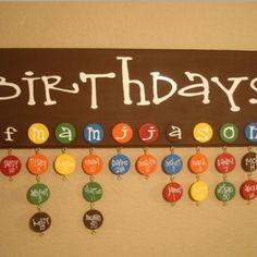 Birthday calender