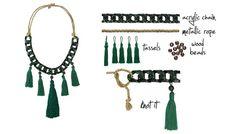DIY statement tassle necklace | www.bykaro.nl
