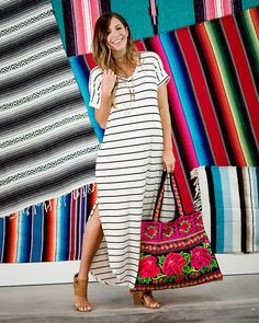 Bryce Striped Maxi Dress