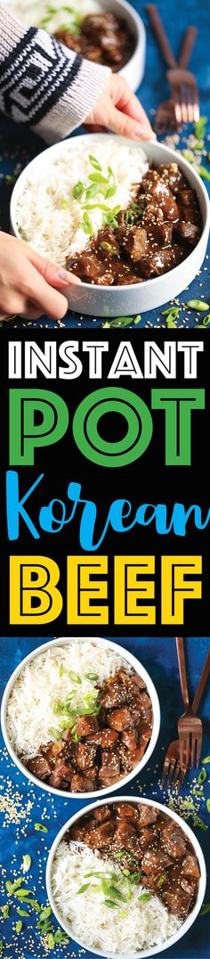 Instant Pot Korean Beef - The best and easiest Korean beef you will ever make in the pressure cooker. 10 min prep or less! And the meat comes out amazingly flavorful and melt-in-your-mouth tender!