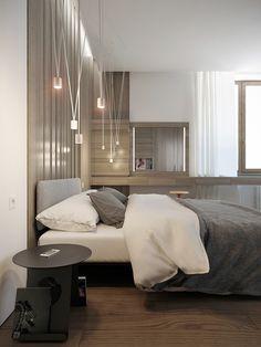 House in village «New Riga» | Bedroom by Sergey Buldygin, via Behance