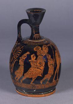 red-figured lekythos (perfume bottle), right side. British Museum number 1882,0704.1.