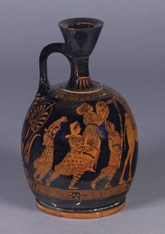 red-figured lekythos (perfume bottle), right side.  British Museum number 1882,0704.1.