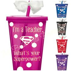 Teacher Tumbler I'm a Teacher What's Your by MiBellaVitaBoutique, $12.00....I so need this!