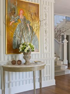 TRADITIONAL ENTRYWAY WITH CONSOLE