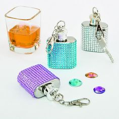 Fabulous Bling Flask Key Chains