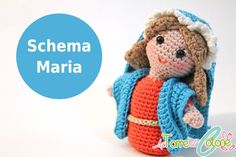pattern in italian Diy Nativity, Christmas Nativity, Christmas Angels, Crochet Winter, Love Crochet, Crochet Dolls, Crochet Hats, Crochet Stitches, Crochet Patterns