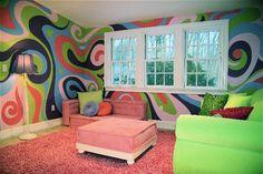 Psychedelic Tween Hangout mural idea as seen on www.findamuralist.com