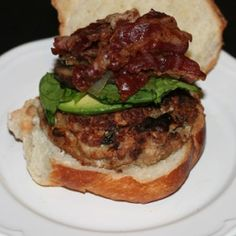 Bacon and Onion Stuffed Turkey Burgers