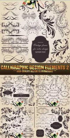Stock Vector - Calligraphic Design Elements 2