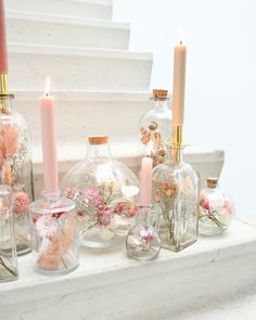 Diy Home Decor Easy - New ideas Dried Flower Arrangements, Dried Flowers, Glass Flowers, Flower Decorations, Wedding Decorations, Fleurs Diy, Deco Floral, Flower Crafts, Diy Home Decor