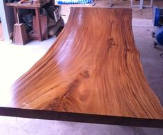Live Edge Dining Table Reclaimed Solid Slab Acacia Wood Extremely Rare by flowbkk on Etsy