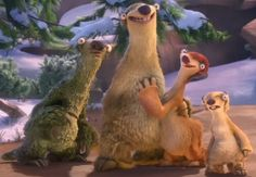 Ice Age: Continental Drift - (Sid's Family) Uncle Fungus, father Milton, mother Eunice & brother Marshall.