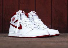 Air Jordan 1 OG Metallic Red Release Date. The Metallic Red Air Jordan 1 returns with Nike Air branding just like the original release this May Dr Shoes, Nike Air Shoes, Hype Shoes, Me Too Shoes, Sneakers Nike, Jordan Shoes Girls, Air Jordan Shoes, Girls Shoes, Jordan Outfits