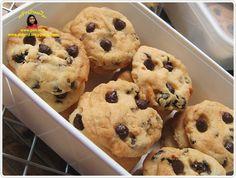 ตุ๊กกี้ช๊อคโกแล๊ดชิพ Bakery Recipes, Cooking Recipes, Thai Cooking, Ice Cream Cookies, Chocolate Cookies, Recipe Collection, Muffin, Baking, Breakfast