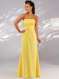 (HUNG0254681)2013 Style A-line Strapless Ruffles Sleeveless Floor-length Chiffon Prom Dresses / Evening Dresses