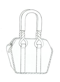 Satchels Fashion Design Drawings, Fashion Sketches, Satchel Bag, Satchel Handbags, Drawing Bag, Hand Embroidery Videos, Jewellery Sketches, Technical Drawing, Fashion Books