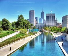 Indianapolis Canal and Skyline ... <3 my other home! ;)