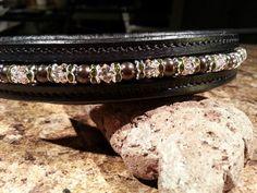 Custom Beaded Browband por BrowbandsByHaley en EtsyPreciosa frontalera artesanal..