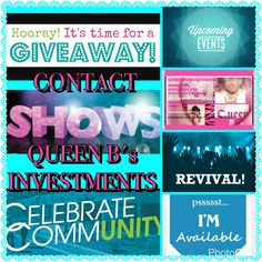CONTACT QUEEN B's INVESTMENTS ASAP TO PROMOTE YOUR EVENTS!!!! I ONLY CHARGE $3 PER DAY AND I WILL MARKET YOUR EVENTS ALL OVER SOCIAL MEDIA EXCLUSIVELY!!!! THAT INCLUDES FACEBOOK, INSTAGRAM, TWITTER, PINTERESTS, AND CRAIGSLIST!!!! YES I SAID $3 PER DAY AND FOR THAT PRICE I MEAN ANY EVENT WHETHER ITS A CONFERENCE, REVIVAL, FREE GIVE AWAY, SHOW, OR COMMUNITY EVENT!!! IF YOU ARE INTERESTED INBOX ME,  CALL OR TEXT 17547038222,  OR EMAIL queenbsinvestmentscompany@yahoo.com!!!!