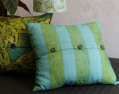 Square Linen Welted Pillow Cover w/ Zipper in by BelfastBayShadeCo