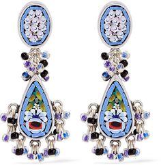 Etro Silver-Plated Enamel Earrings (£415)