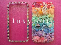 Pastel Rainbow Decoden iPhone 4/4s Phone Case by LUXYLOLI on Etsy, $99.00 Oh my god.