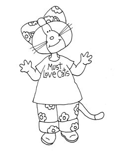 Free Dearie Dolls Digi Stamps: As requested....Must Love Cats repost