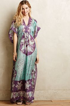 Sunila Silk Maxi Caftan - anthropologie.com #anthrofave