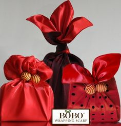 BOBO Ruby gift wrapping scarf
