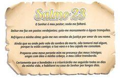 Salmo 23 - O Senhor é meu pastor e nada me faltará.