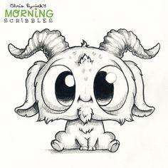 63 ideas cute art drawings weird for 2019 Cute Monsters Drawings, Weird Drawings, Kawaii Drawings, Art Drawings Sketches, Animal Drawings, Easy Drawings, Cartoon Monsters, Drawing Animals, Chibi Kawaii