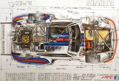 1976 Porsche 935 - car art