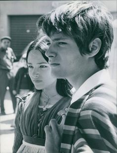 "Olivia Hussey and Leonard Whiting during production of ""Romeo and Juliet"""