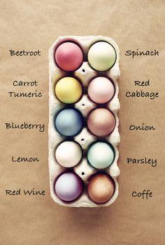 Bunte Ostereier ohne Chemie? – das geht! Färben Sie Eier einfach mit natürlichen Produkten aus der Küche.#ostereier#natürlich#färben
