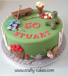 70th Birthday Cake For Men, Grandma Birthday Cakes, Grandma Cake, Dad Cake, Baby Birthday Cakes, Garden Theme Cake, Garden Birthday Cake, Garden Cakes, Barrel Cake
